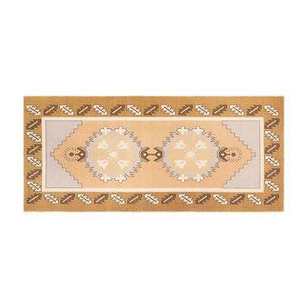 Hand-woven kitchen mat in cotton