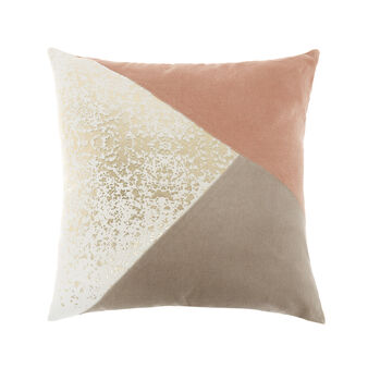 Cotton cushion with patchwork effect 45x45cm