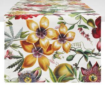 Runner twill di cotone stampa floreale