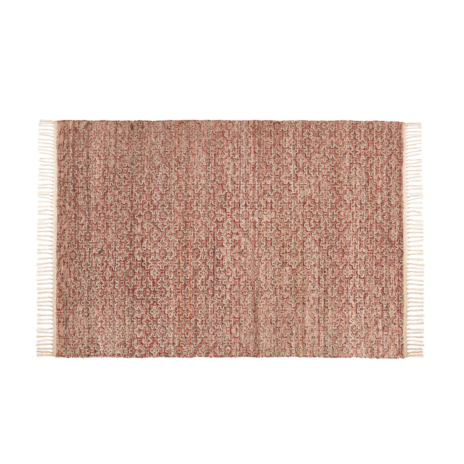 Chindi rug in recycled cotton with geometric design