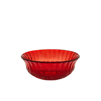 Worked glass bowl