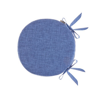 Round seat pad in solid colour 100% cotton
