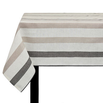Striped pure linen linen tablecloth