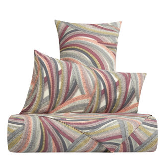 Cotton percale duvet cover with abstract pattern