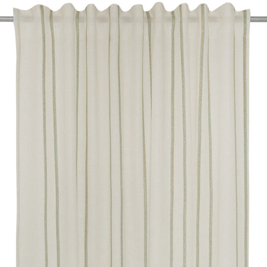Curtain with woven details and lurex. Concealed loops