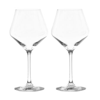 Set of 2 glass red wine goblets