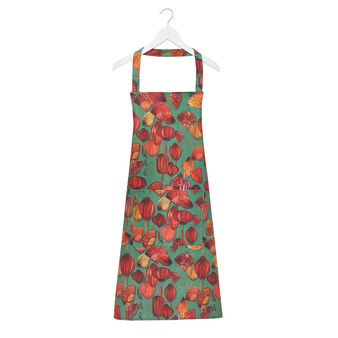 Kitchen apron in 100% cotton with fans print