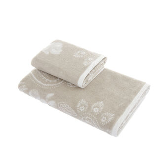 Towel in 100% cotton with jacquard design
