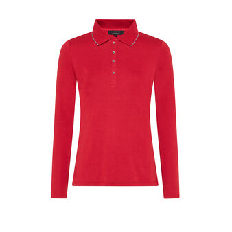 Solid-color polo t-shirt