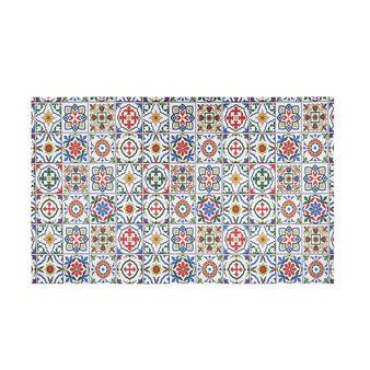 PCV kitchen mat with mosaic print