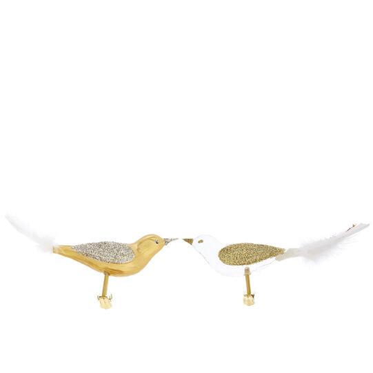 Glass bird hand-blown by European artisans