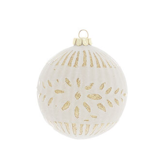 Hand-decorated sanded-effect bauble