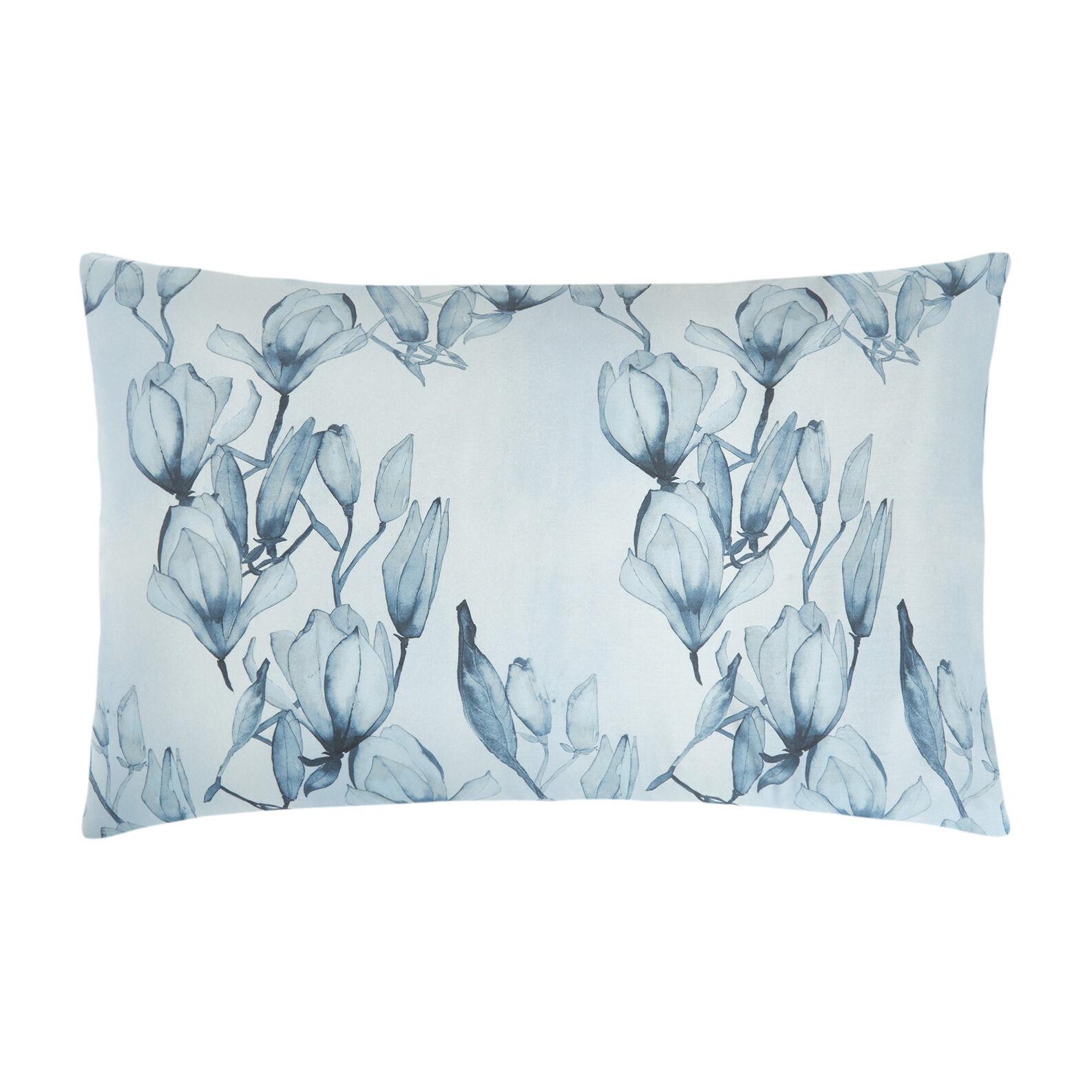 Cotton satin pillowcase with magnolia pattern