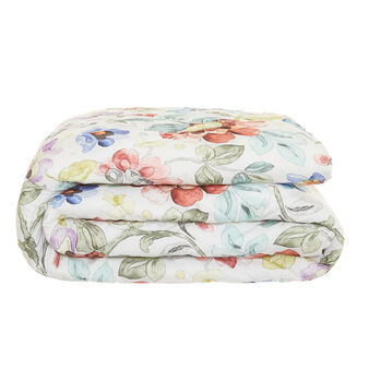 Quilt in cotton percale with floral pattern