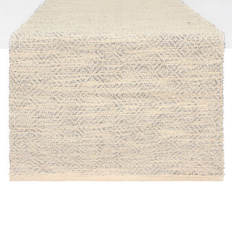 Cotton and lurex table runner
