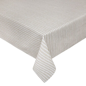 Water-repellent cotton tablecloth in Teflon with stripes