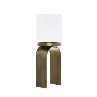 Candeliere in vetro e metallo