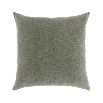 Plain cushion with blended effect