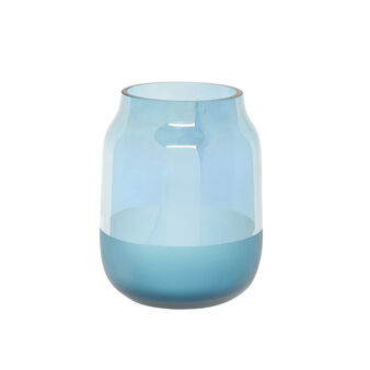 Two-tone coloured glass vase
