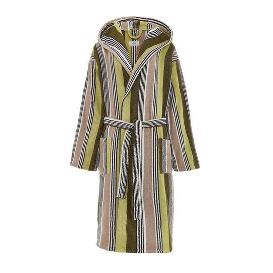 100% cotton striped bathrobe