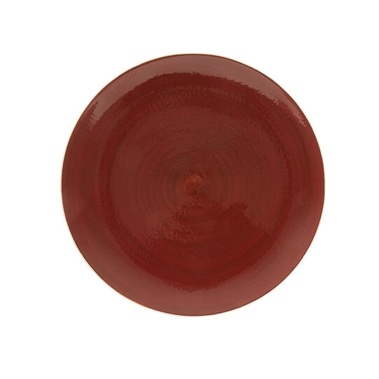Speckled-effect porcelain plate