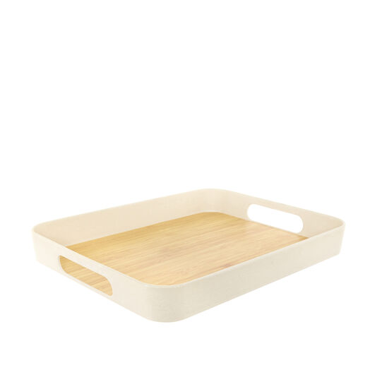 Rectangular tray in bamboo
