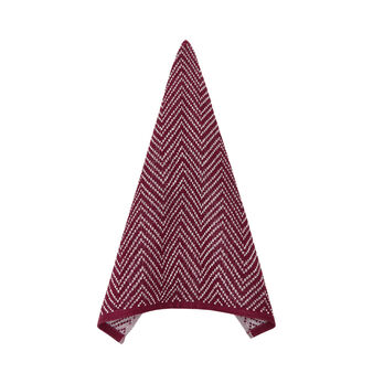 100% cotton tea cloth with zig-zag pattern