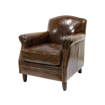 Cargo Penny armchair in vintage leather
