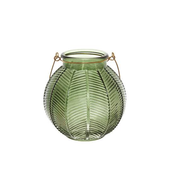Round glass lantern