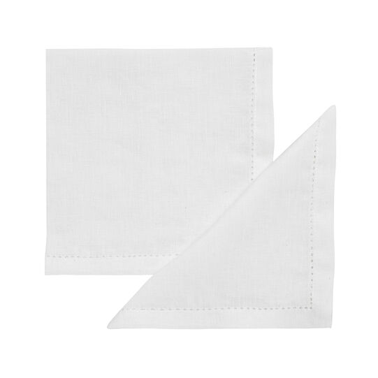 2-pack napkins in 100% linen with whitework embroidery