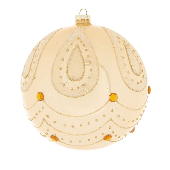 Hand-decorated large drop bauble
