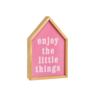 Wooden LED light box house with Enjoy The Little Things lettering