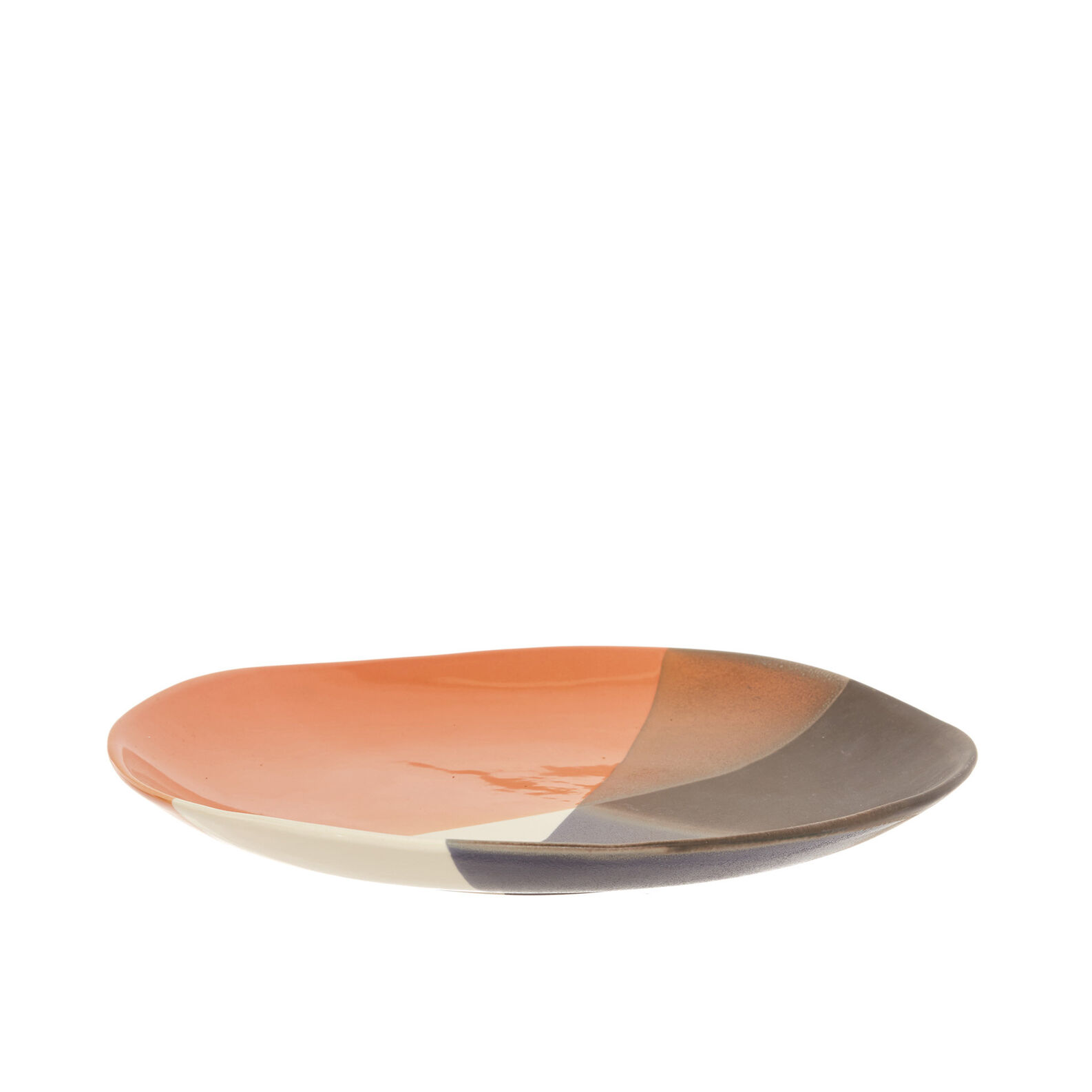 Coloured ceramic serving dish