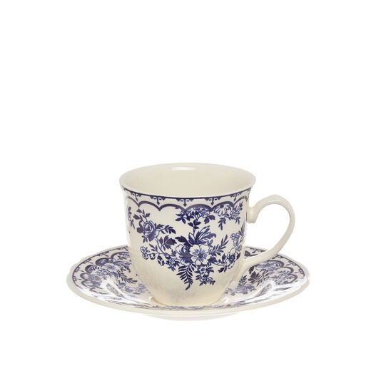 Blue Flower ceramic tea cup