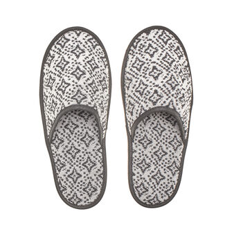 100% cotton slippers with diamond design