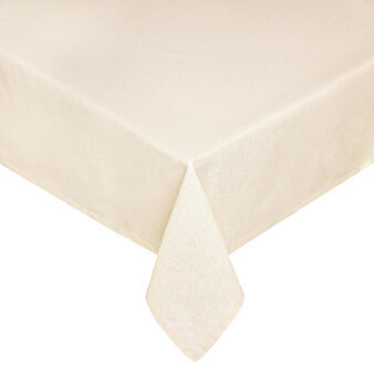 Cotton blend tablecloth with lurex