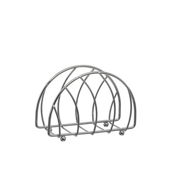 Chrome-plated steel wire napkin holder