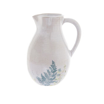 Hand-painted terracotta carafe