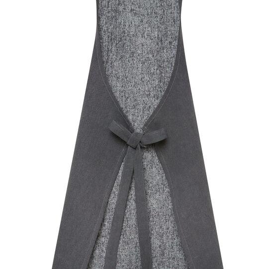 100% stonewashed cotton kitchen apron with pleather trim