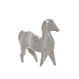 Hand-finished decorative zebra