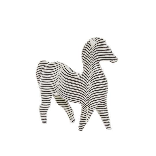 Hand-finished decorative zebra