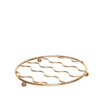 Trivet in polished gold wire