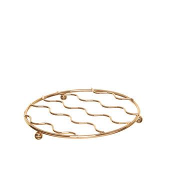 Sottopentola filo oro lucido