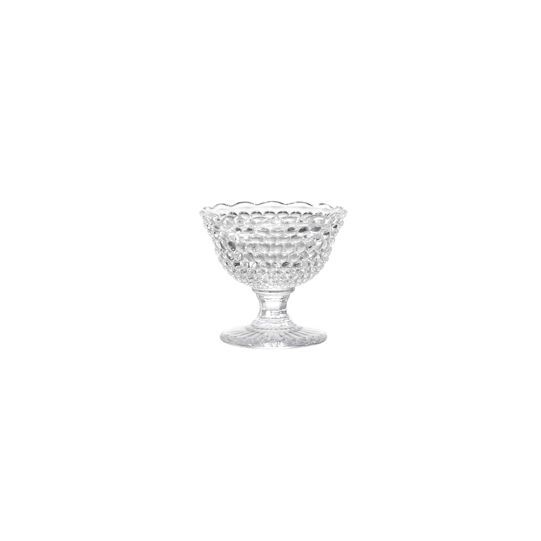 Diamond cut glass bowl