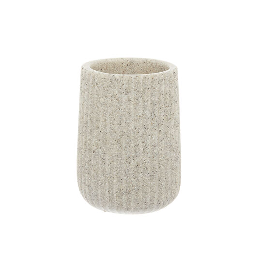 Sand stone-effect toothbrush holder