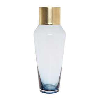 Coloured glass paste vase