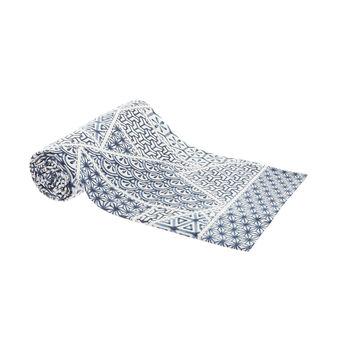 100% cotton patchwork print throw