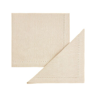 Set of 2 napkins in cotton with lurex yarn