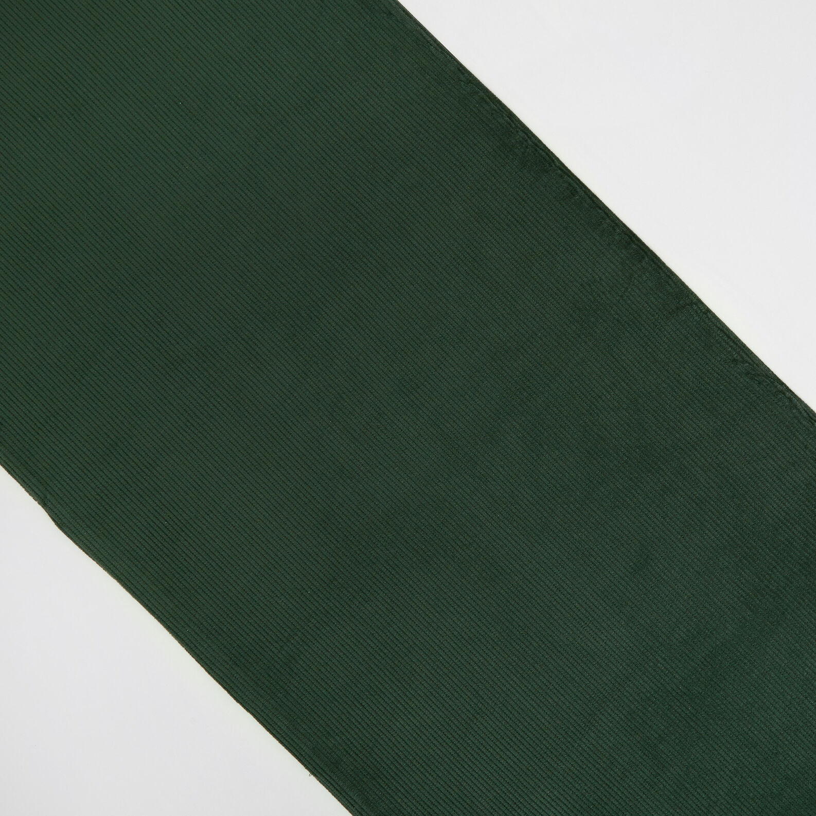 Solid colour cotton corduroy runner