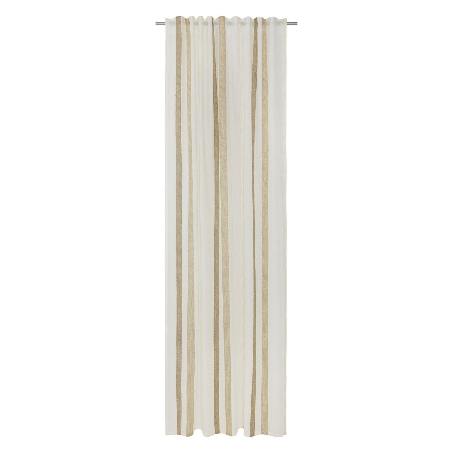 Curtain fabric with hidden pass-through stripes